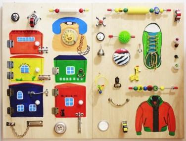 Бизиборд, или развивающая доска для ребенка. 17 идей для вдохновения и создания