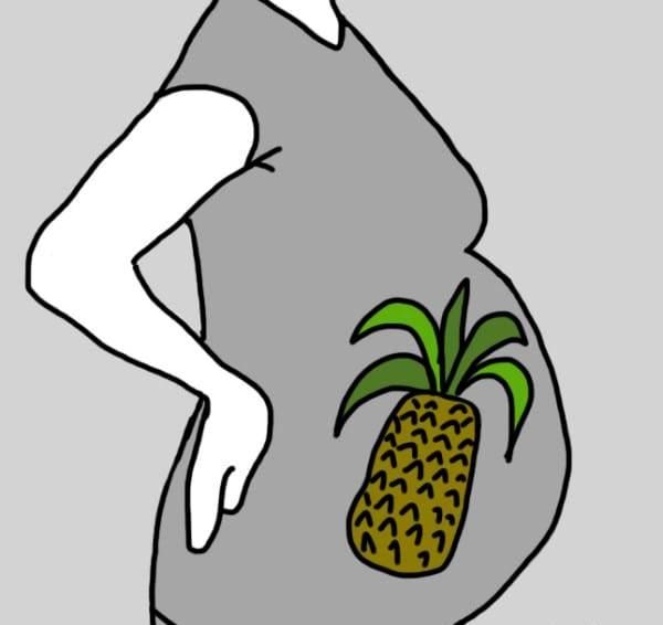 На 33-й - спелый ананас