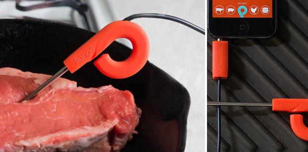 Термометр для идеальной прожарки стейков, который синхронизируется со смартфоном