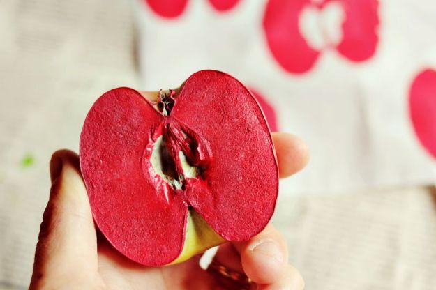 отпечатки яблоко