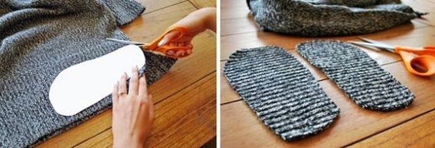 тапочки из свитера2