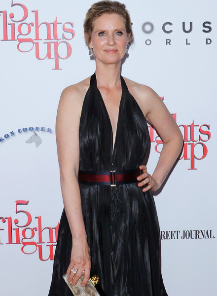 """NEW YORK, NY - APRIL 30: Actress Cynthia Nixon attends the """"5 Flights Up"""" New York premiere at BAM Rose Cinemas on April 30, 2015 in the Brooklyn borough of New York City. (Photo by Jim Spellman/WireImage)"""