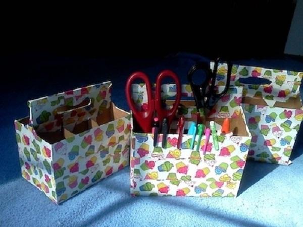 Много карандашей и фломастеров у ребенка В порядке их содержать помогут обычные коробки