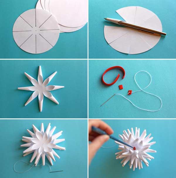 как вырезать снежинку