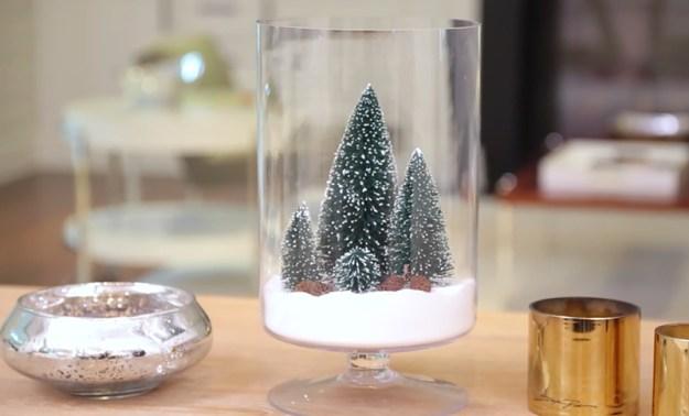 ваза со снегом