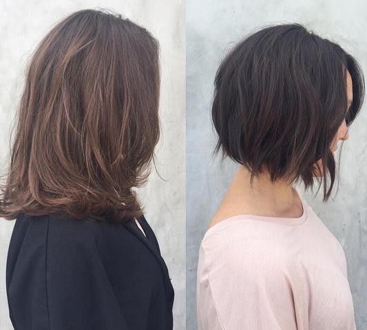 Не бойтесь убирать свою длину волос. Это красиво
