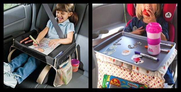 Портативный столик в машину, чтобы ребенок не скучал в дороге