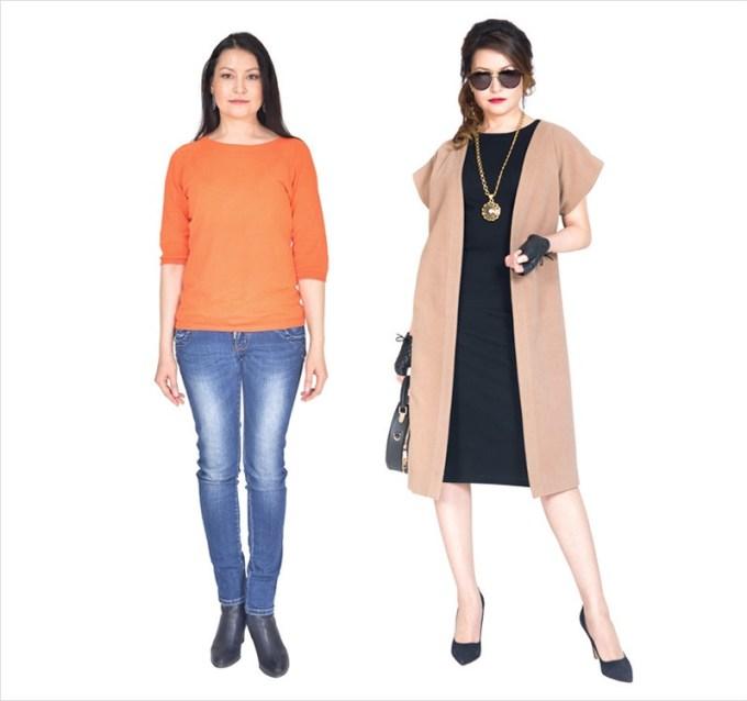 стилист одевает женщин