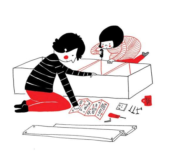 ...собирать вместе мебель из Икеи