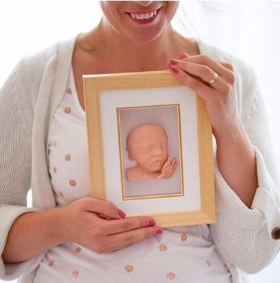 Скульптура будущего малыша, которая создается с помощью 3D УЗИ и принтера2