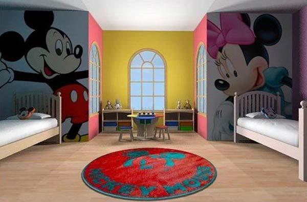 В разделении комнаты на мальчишью и девичью помогут мультипликационные герои