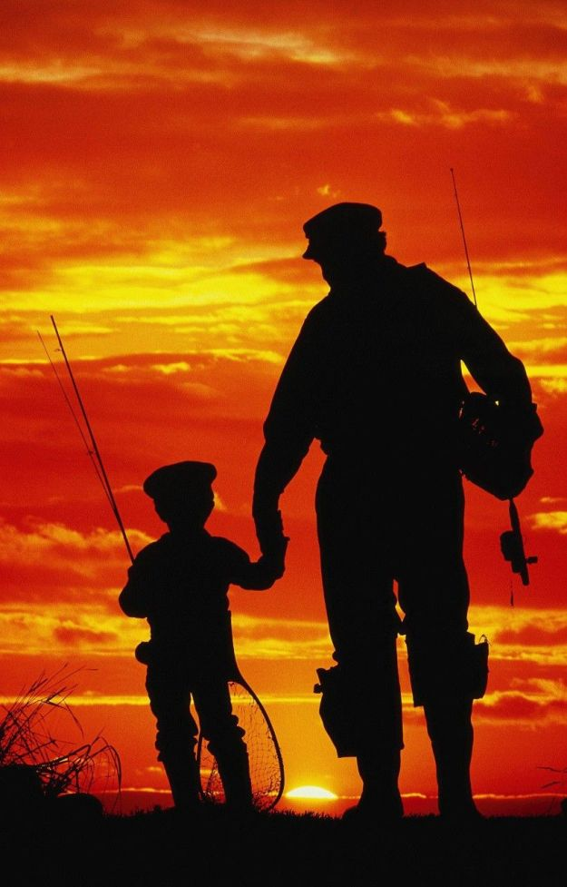 Отправить детей с папой на рыбалку