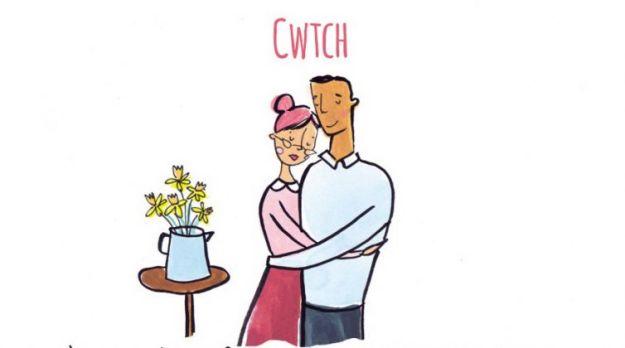 Валлийский язык. Когда своими объятиями любимый человек создает зону безопасности для другого