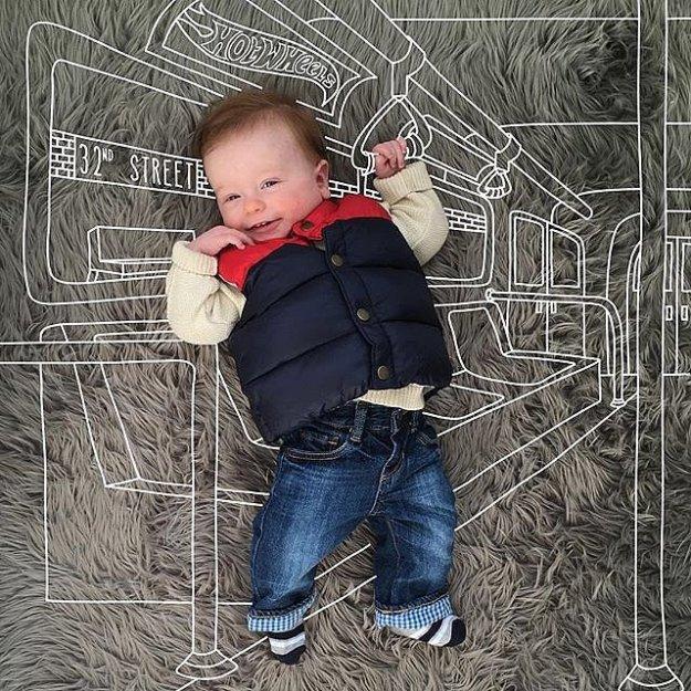 малыш в метро