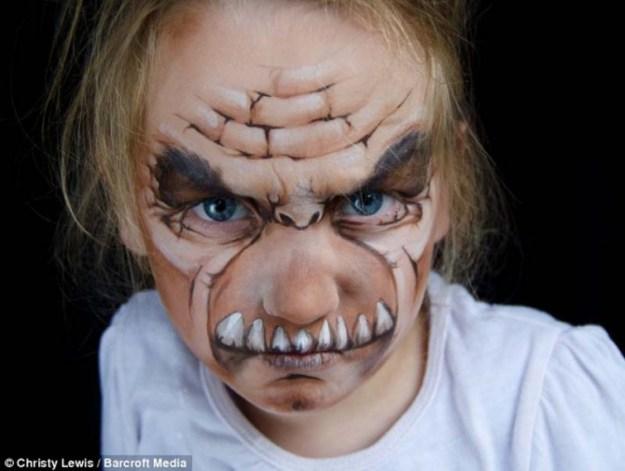 рисунки на лицах детей