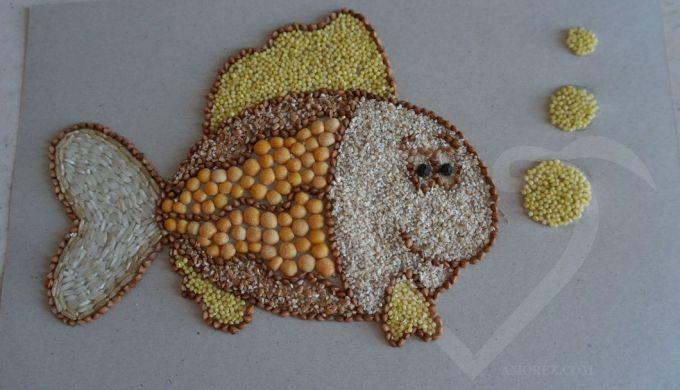 рыбка из круп
