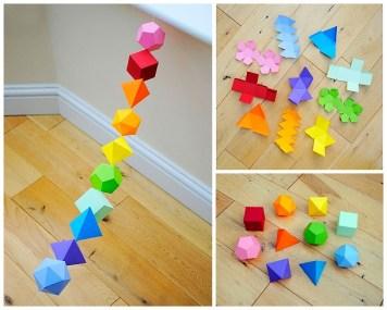 Объемные геометрические тела из бумаги своими руками. Схемы