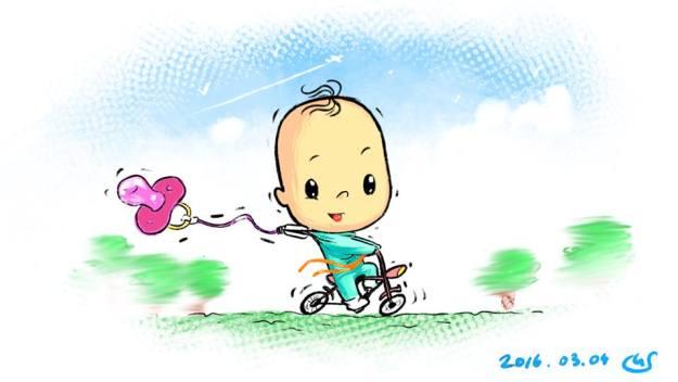 маня на велосипеде