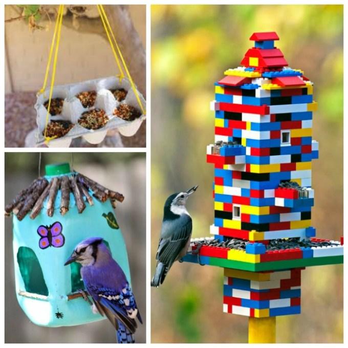 сделать кормушку для птичек