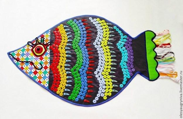 коврик для массажа рыба из крышек