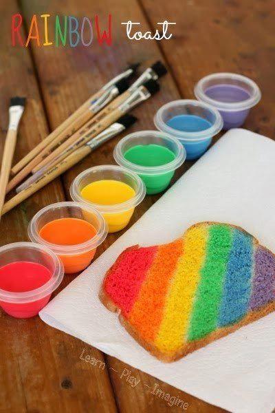 Предложите детям пищевыми красителями украсить еду