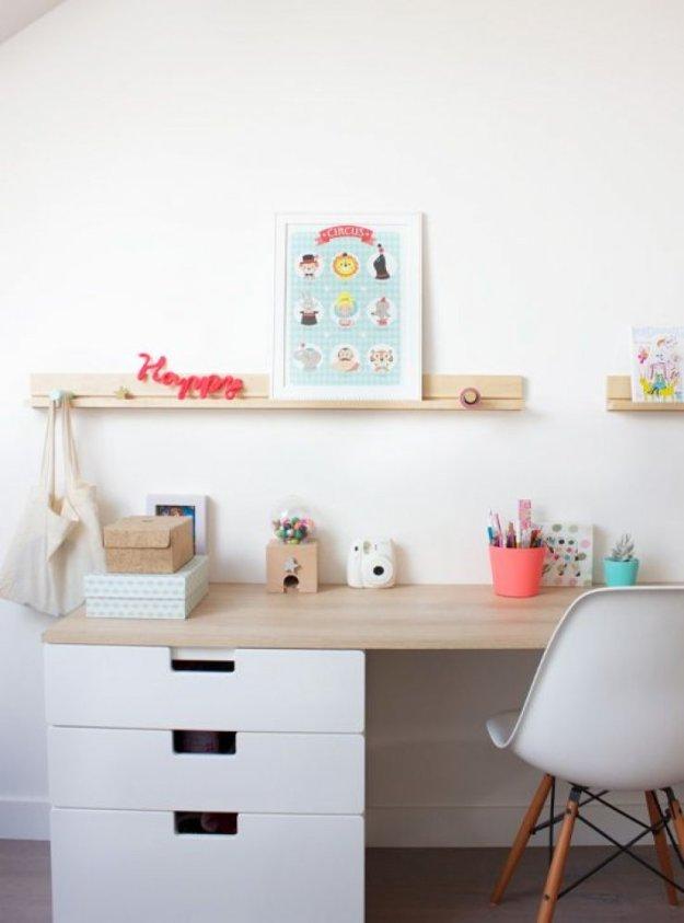 как оформить рабочий стол для ребенка