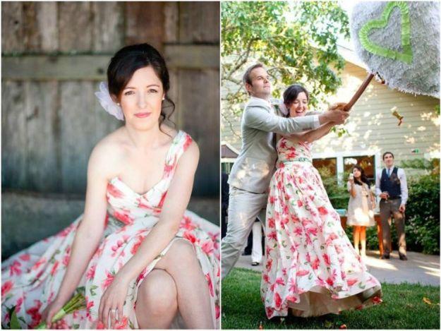 яркие жених и невеста