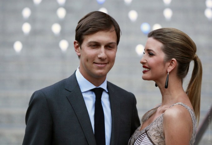 Ivanka Trump arrives with husband, Jared Kushner, at the Vanity Fair party to begin the 2012 Tribeca Film Festival in New York