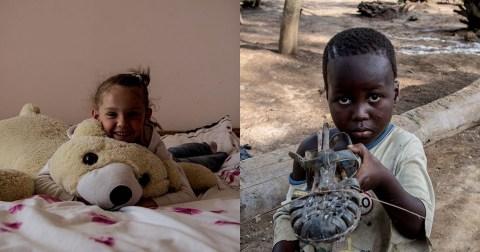 Детей из разных уголков мира попросили показать свои любимые игрушки. Это заставляет задуматься