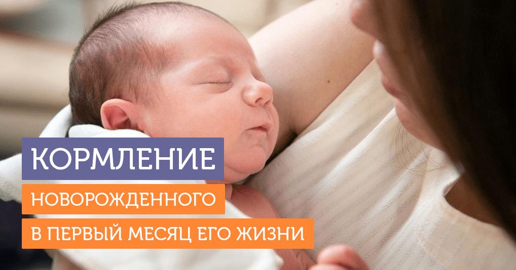 Кормление новорожденного: чего ждать в первый месяц жизни малыша