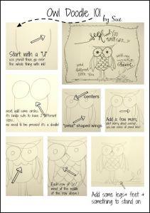 Как нарисовать сову в стиле дудлинг?