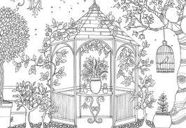 Раскраска Таинственный сад