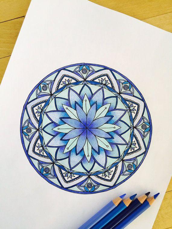 Раскрашенные раскраски мандалы