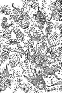 Картинки антистресс для раскрашивания - цветы