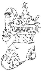 раскраска новогодний башмак