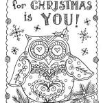 Подборка раскрасок для новогодних и рождественских открыток