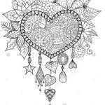 раскраска сердечки на день святого валентина