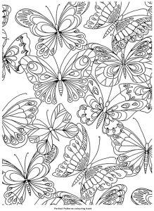 раскраска антистресс бабочки распечатать
