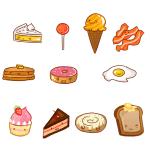Кавайные картинки для срисовки еда