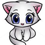 Кавайные картинки для срисовки кот