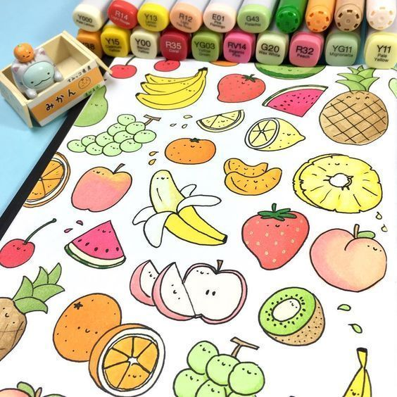 Очень легкие и красивые рисунки для срисовки