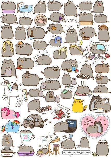 легкие рисунки кошки
