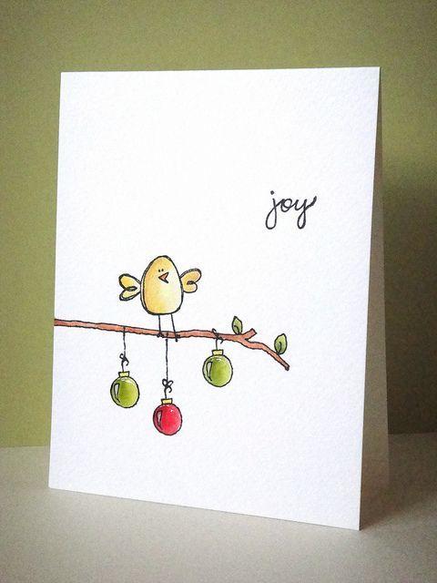 Как нарисовать открытку на новый год