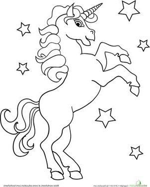 Раскраски единороги лошади
