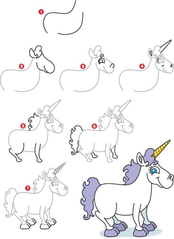 Как нарисовать единорога легко няшного