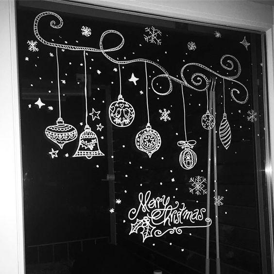 Прикольные рисунки на окнах к новому году