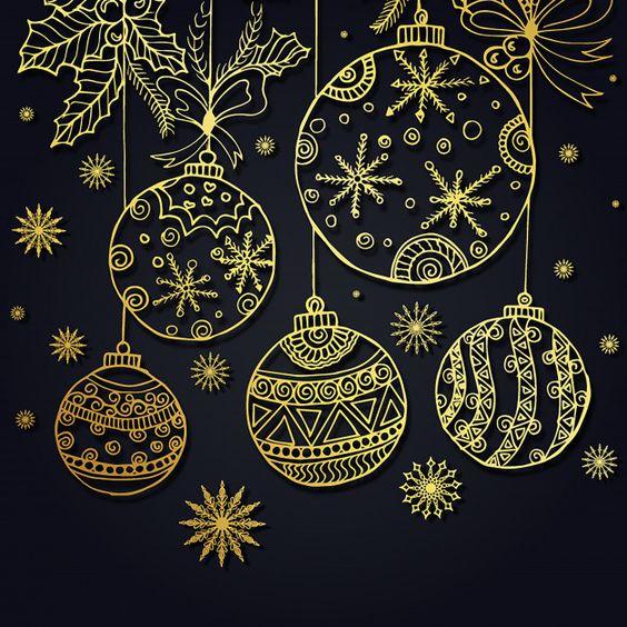 Рисунок новогодний шар