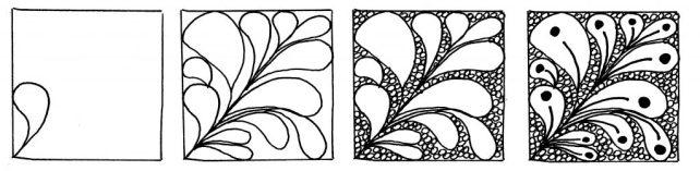 Растительный узор от создателей Зентангла