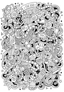 Doodle Art / Doodling - Coloring Pages for Adults5