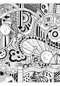 Doodle Art / Doodling - Coloring Pages for Adults17